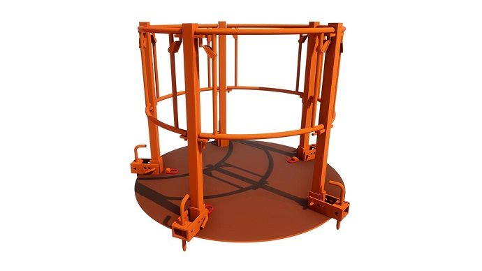 Ring shaped Manhole Safety Platform for concrete manhole ring