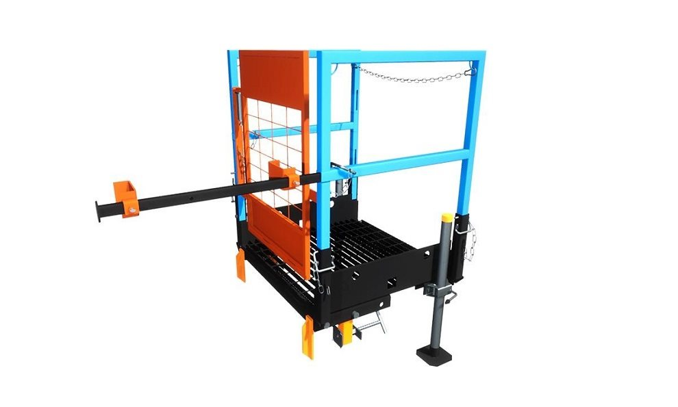 Ladder Access Platform for sheet piles and trench boxes
