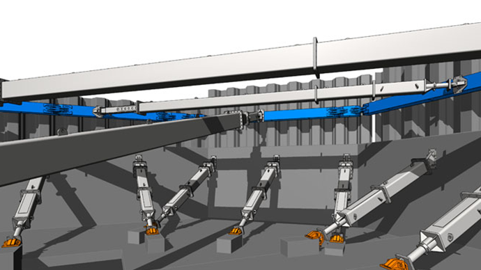 BIM for temporary works propping CGI