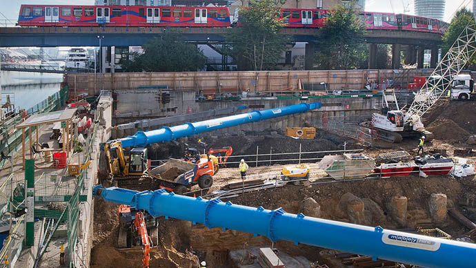 Groundworks excavation support in London