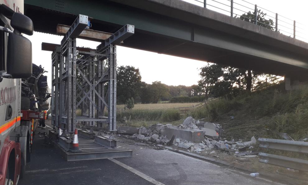 M6 bridge strike propping