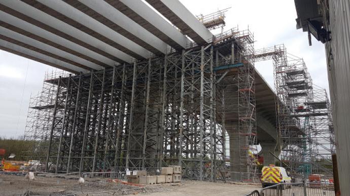 Mat 125 propping and shoring lifting a bridge while repairs are facilitated